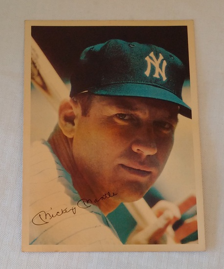 Rare Vintage 1961 Phillies Cigar Mail In Premium Photo Card 6.5x9 Mickey Mantle Yankees HOF MLB