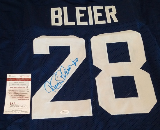 Rocky Bleier Autographed Signed College Football Custom Jersey XL Stitched JSA COA Notre Dame