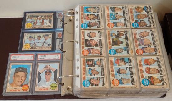 Vintage 1968 Topps Baseball Near Complete Set 587 Cards 587/598 Missing 11 Overall EX Stars GRADED