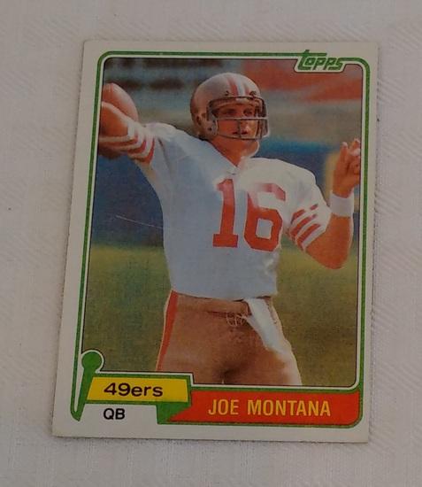 Key Vintage 1981 Topps NFL Football Rookie Card RC Joe Montana 49ers HOF