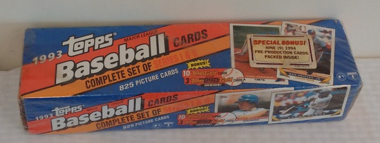 1993 Topps Baseball Complete Card Set Factory Sealed Derek Jeter Rookie RC w/ Pre Production Inserts