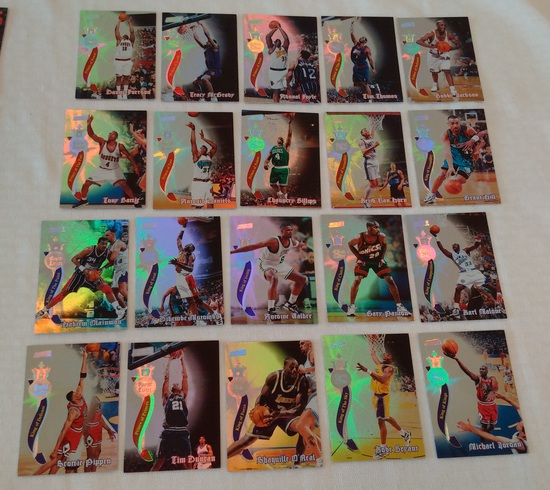 1997-98 TSC NBA Basketball Members Only Complete Insert Set Royal Court Jordan Kobe Duncan Shaq