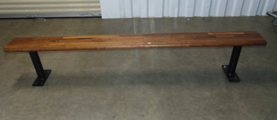 Solid Wood W/ Steel Base 8 Foot Long Locker Bench LOCAL PICK UP ONLY