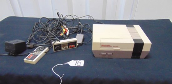 Original Nintendo Entertainment System, 2 Controllers, Power Supply & A Game