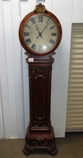 Solid Wood Grandfather Clock W/ Quartz Movement