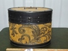 Vtg Decorated Wood Hat Box
