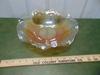 Vtg Carnival Glass Bowl W/ Ruffled Rim