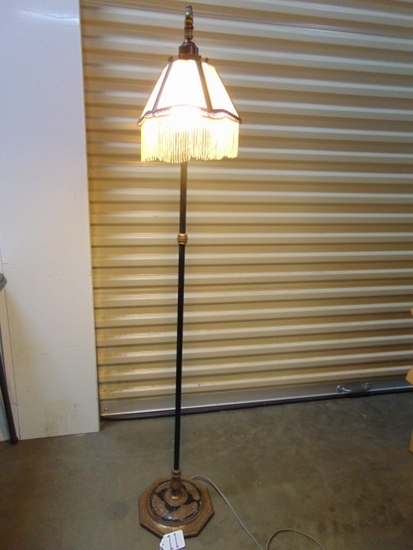Vtg 1930s Ornate Rembrandt Floor Lamp