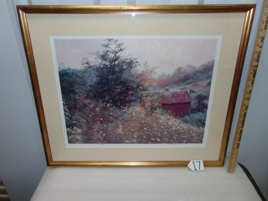 Vtg Signed & Numbered Limited Edition Print By Richard Thompson W/ C O A