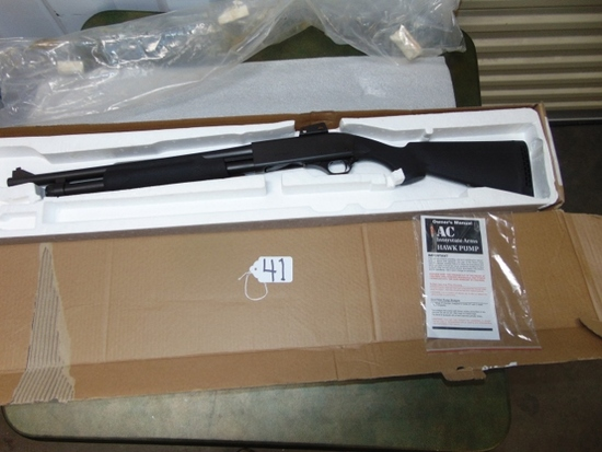 Interstate Arms Hawk Model 982 12 Guage Pump Shotgun