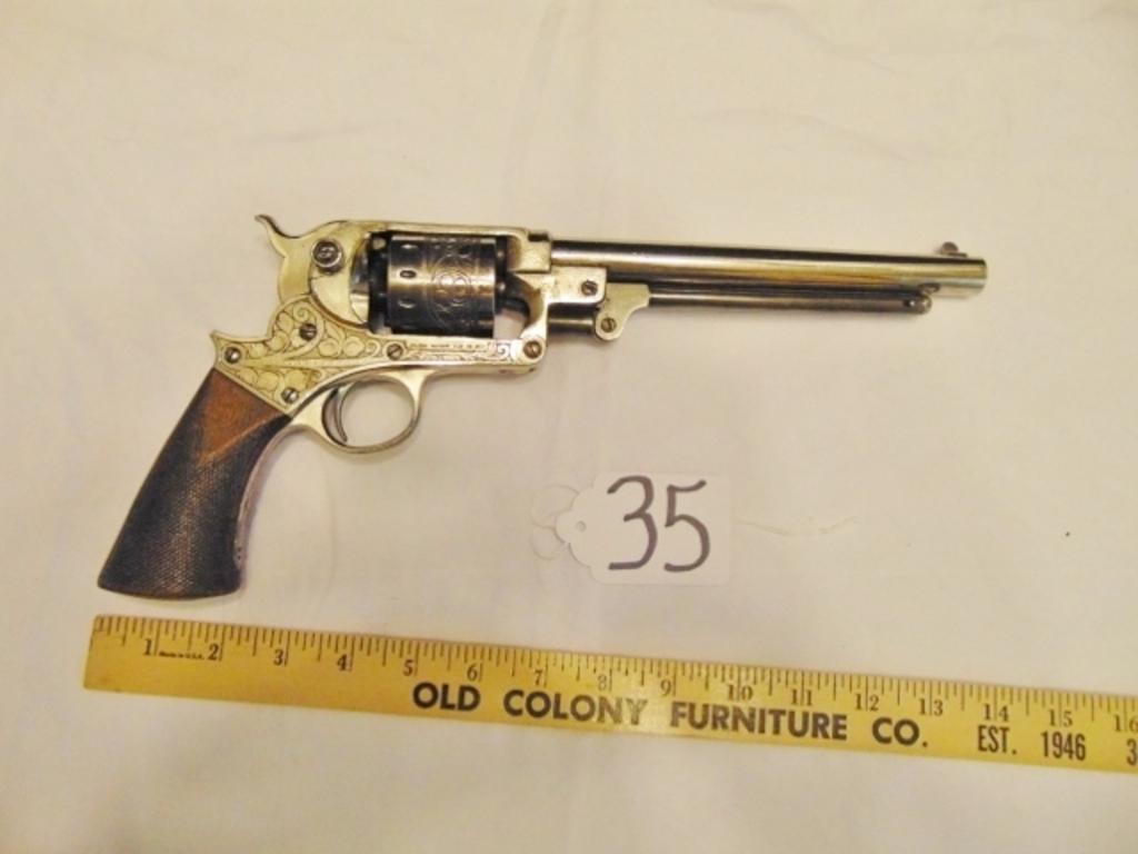 Starr Arms 1856 Single Action .44 Caliber Percussion Revolver W/ Scroll Design