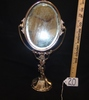 Vtg Art Nouveau Silver Plated Vanity Swivel Mirror
