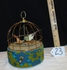 Vtg Mid Century Animated Birds In A Cage Music Box Automaton, Made In Japan