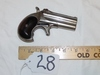 Antique 1880-1888 E. Remington And Sons .41 Caliber Over & Under Derringer