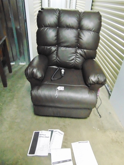 Duralux Leather Lift Chair, The Perfect Sleep Chair W/ Instructions (Local Pick Up Only)
