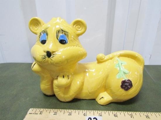 Vtg Ceramic Tiger Bank
