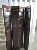 Very Nice Vtg Solid Wood 4 Panel Room Divider  (LOCAL PICK UP ONLY)