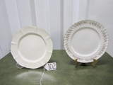 2 Vtg Collectible Porcelain China Plates: Noritake Ivory China