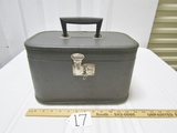 Vtg Train Case W/ Mirror
