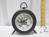 Alice In Wonderland Quartz Clock Featuring The White Rabbit On Face