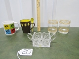 1950's Glass And Stoneware Lot
