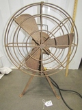 Vtg Heavy Duty Fan On Tripod Legs  (LOCAL PICK UP ONLY)