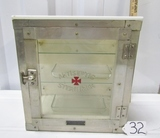 Vtg Barber's Antiseptic Sterilzer Cabinet By Emil J. Paidar Company W/