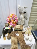 Lot Of 5 Plush Toys, 3 Large And 2 Medium