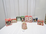 Lot Of N I B Christmas Themed Items: Trinket Box, Bells, Candle, Music Box,
