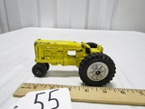 Vtg Hubley Metal Tractor W/ Rubber Wheels