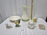 Vtg Ceramic And Porcelain Home D'cor Lot