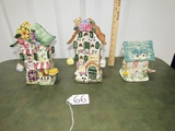 3 Very Cute Ceramic Buildings That Are Candle Holders