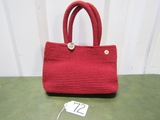 The Sak Crocheted Burgandy Handbag