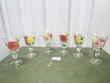 Set Of 6 Hand Painted Wine Glasses
