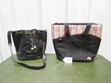 Leather Coco Chanel Handbag And A Thermos Brand Cooler Handbag
