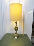 Large Vtg Mid Century Brass Table Lamp