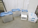Lot Of Plastic Storage Bins