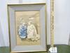 Rare Vtg La Mode Illustree Victorian French Ladies 3 D Shadow Box Picture