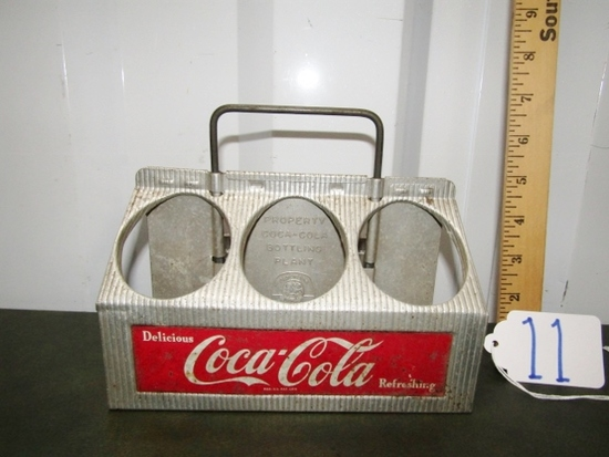 Vtg 1950s Reynold's Aluminum Coca - Cola 6 Pack Bottle Carry Tray