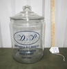Vtg Large Glass W/ Glass Top Dryden And Palmer Old Fashioned Rock Candy Jar