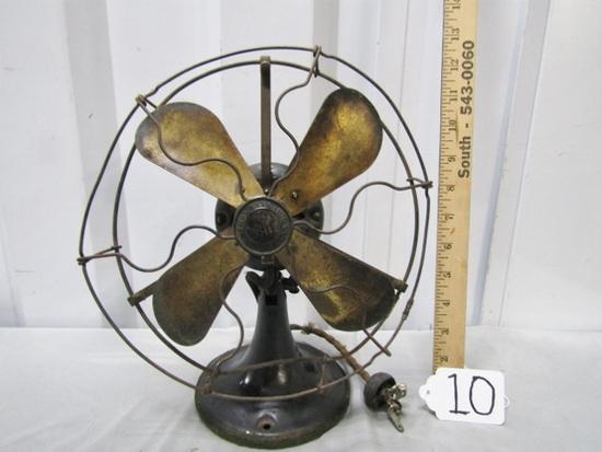 "Antique Circa 1919-1924 General Electric "" Whiz "" Electric 9 Inch Desk Fan"