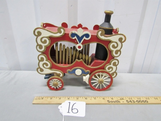 Vtg Wooden Hand Made And Hand Painted Calliope