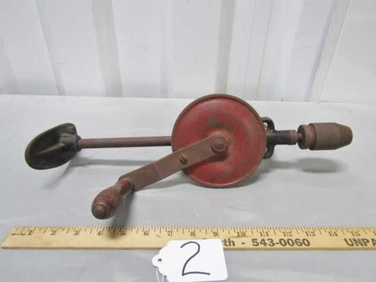 Antique Hand Shoulder Breast Plate Drill Bit Brace