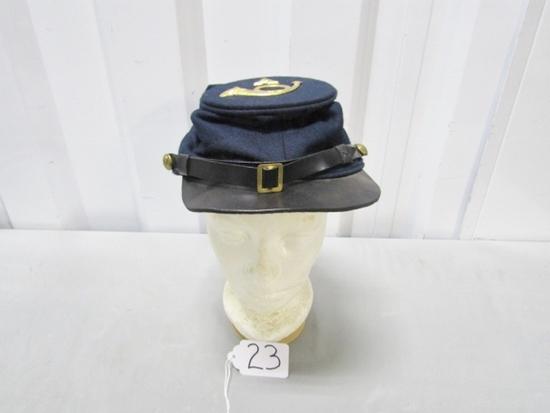 Vtg Union Army Wool Kepi Cap Reproduction