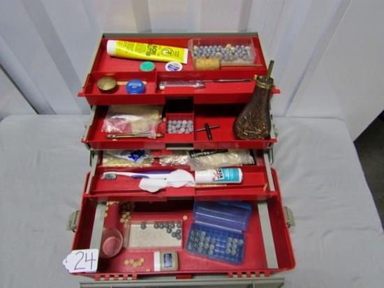 Black Powder Gun Supplies In A Plano Tackle Box