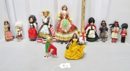 Lot Of 12 Dolls From Around The World