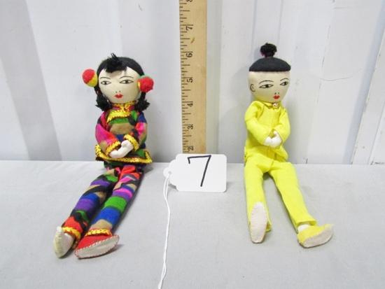 2 Hand Made Oriental Dolls