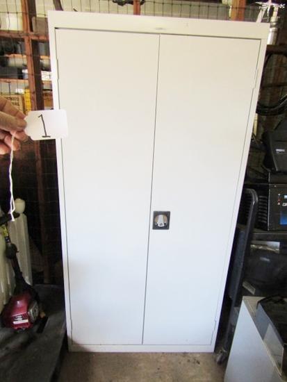 Large 2 Door Metal Storage Cabinet W/ Key