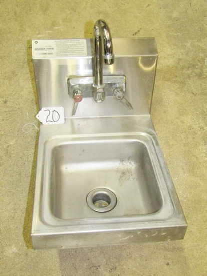 Advance Tabco Stainless Steel Wall Mount Bar Sink