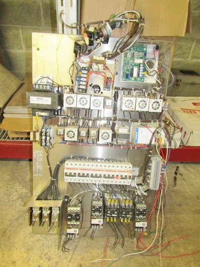 Electric Control Panel W/ Transformer, Breakers, Motor Starters And Relays